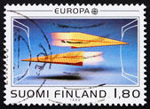 Postage stamp Finland 1988 Paper planes — Stock Photo
