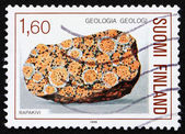Postage stamp Finland 1986 Rapakivi granite — Stock Photo
