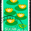 Royalty-Free Stock Photo: Postage stamp Finland 1977 Five Water Lilies