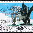 Stock Photo: Postage stamp Finland 1993 Rumba, Sculpture by Martti Aiha