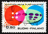 Postage stamp Finland 1971 Plastic Buttons and Houses — Stock Photo