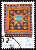 切手フィンランド 1982年ブライダル敷物、teisko — ストック写真