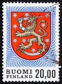 Estampilla finlandia 1978 finlandés los brazos de la tumba del rey gusta — Foto de Stock
