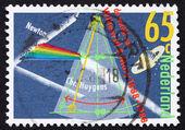Postage stamp Netherlands 1988 Prism Splitting Light — Stock Photo
