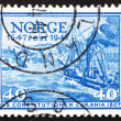Postage stamp Norway 1947 Post Ship Constitution — Stock Photo