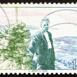 Stock Photo: Postage stamp Norway 1976 Olav Duun, novelist