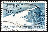 Postage stamp Norway 1967 Glitretind Mountain Peak — Stock Photo