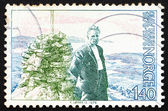 Postage stamp Norway 1976 Olav Duun, novelist — Stock Photo