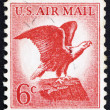 Postage stamp USA 1963 Bald Eagle - Stock Photo