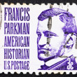 Stock Photo: Postage stamp US1967 Francis Parkman, historian