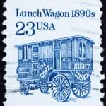 Postage stamp USA 1991 Lunch Wagon — Stock Photo
