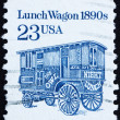 Postage stamp USA 1991 Lunch Wagon — Stock Photo