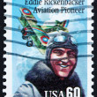 Postage stamp USA 1995 Eddie Rickenbacker, Aviation Pioneer - Stock Photo
