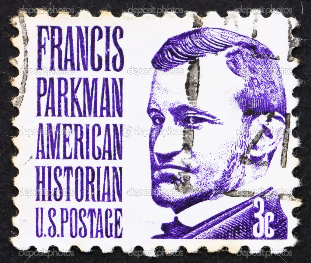 UNITED STATES OF AMERICA - CIRCA 1967: a stamp printed in the United States of America shows Francis Parkman, historian and horticulturist, circa 1967 — Stock Photo #8954721