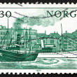 Postage stamp Norway 1977 Norwegian Ships - Stock Photo