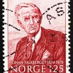 Постер, плакат: Postage stamp Norway 1979 Johan Falkberget novelist