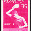 Postage stamp Sweden 1967 Man Playing Table Tennis — Stock Photo #9004595