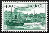 Postage stamp Norway 1977 Norwegian Ships — Stock Photo