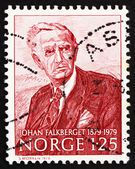 Postage stamp Norway 1979 Johan Falkberget, novelist — Stock Photo