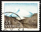 邮票瑞典 1967 fjeld,由西克登 lundbohm — 图库照片