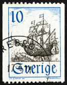 Navio mercante do selo suécia 1967 — Foto Stock