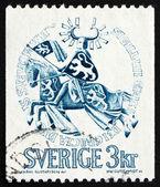 Francobollo svezia 1970 sigillo del duca erik magnusson — Foto Stock