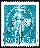 Timbre-poste suède 1970 grand sceau, 1439 — Photo