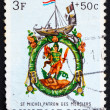 Postage stamp Luxembourg 1963 St. Michael, Patron of Shopkeepers — Stock Photo