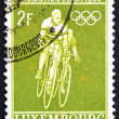Stock Photo: Postage stamp Luxembourg 1968 Bicycling