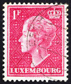 Postage stamp Luxembourg 1948 Charlotte, Grand Duchess of Luxemb — Stock Photo