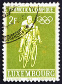 Postage stamp Luxembourg 1968 Bicycling — Stock Photo