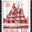 Royalty-Free Stock Photo: Postage stamp Norway 1978 Heddal Stave Church