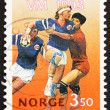 Postage stamp Norway 1993 Team Handball players - Foto Stock