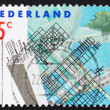 Royalty-Free Stock Photo: Postage stamp Netherlands 1990 Rotterdam Reconstruction