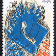 图库照片: Postage stamp Netherlands 1990 National Emergency Phone Number