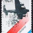 Stock Photo: Postage stamp Netherlands 1988 British Bomber Dropping Food, Dut