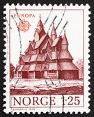 Postage stamp Norway 1978 Heddal Stave Church — Stock Photo