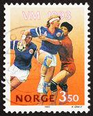 Jogadores de handebol da equipe selo noruega 1993 — Foto Stock