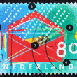 Postage stamp Netherlands 1993 Envelope and Contents — Stock Photo #9054884
