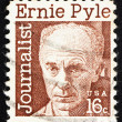 Stock Photo: Postage stamp US1971 Ernest Taylor Pyle, journalist