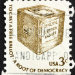 Postage stamp USA 1977 Early Ballot Box — Stock Photo