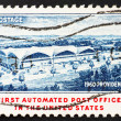 Postage stamp USA 1960 1st automated Post Office, Providence, RI — Stock Photo