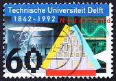 Postage stamp Netherlands 1991 Delft University of Technology — Stock Photo