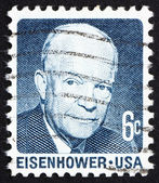 Postage stamp USA 1970 Dwight David Eisenhower, 34th President o — Stock Photo