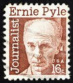切手米国 1971年アーネスト ・ テイラー ・ パイル、ジャーナリスト — ストック写真