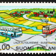 Stock Photo: Postage stamp Finland 1978 Rural Bus Service
