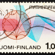 Stock Photo: Postage stamp Finland 1978 Function Theory and Rhythmical Lines
