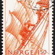 Postage stamp Norway 1981 Climbing rigging — Stock Photo