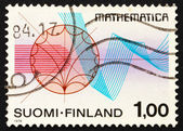 Postage stamp Finland 1978 Function Theory and Rhythmical Lines — Stock Photo