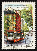 Postage stamp Finland 1979 Streetcar, Helsinki — Stock Photo